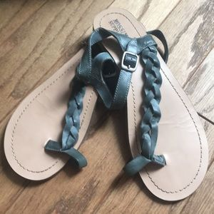 Gently used grey mossimo sandals